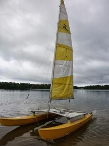 Hobie 14 sailing