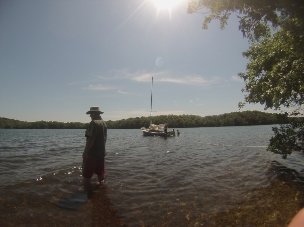 Spy Hop anchored mashpee pond